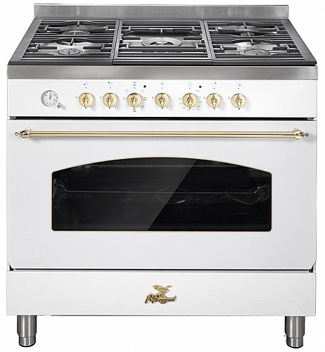 מעולה תנור אפיה מקצועי משולב כיריים 90 ס״מ לבן מבית BOMPANI בומפני דגם VG-56