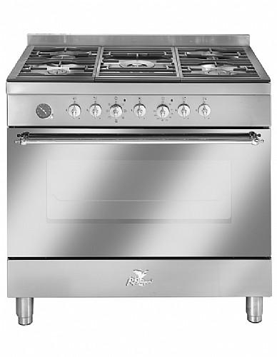 אדיר תנור אפיה מקצועי משולב כיריים 90 ס״מ נירוסטה מבית BOMPANI בומפני ED-34