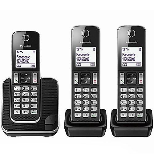ענק טלפון אלחוטי + 2 שלוחות מבית PANASONIC פנסוניק דגם KXTGD313 VC-65